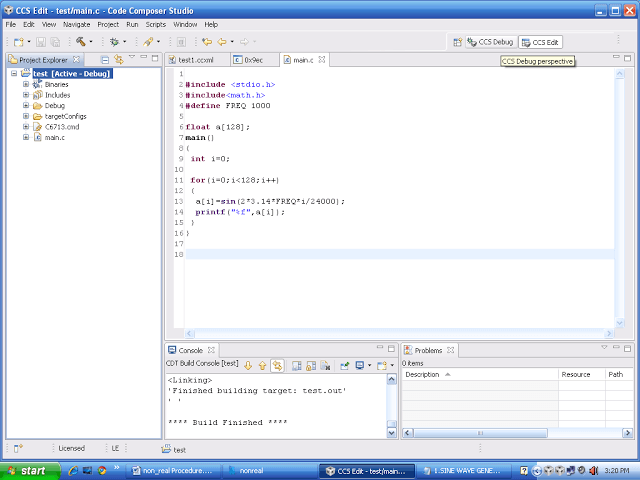 It will generate the .out file in debug folder. Move from edit perspective to debug prospective.