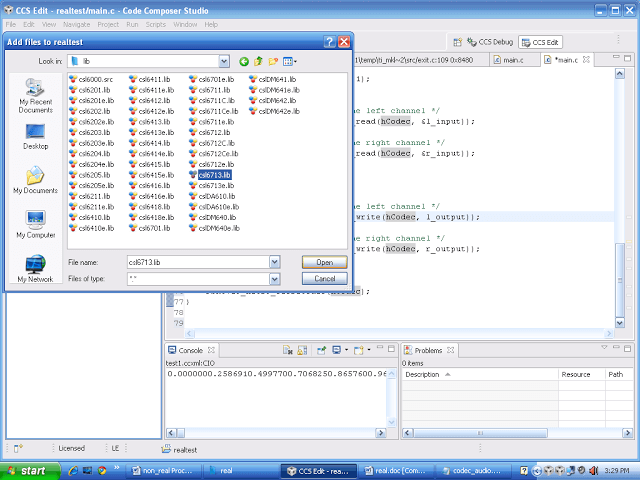 run a dsp processor