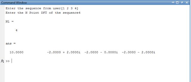 Discrete Fourier Transform Matlab Program - Entc Engg